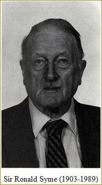 Sir Ronald Syme (1903-1989)
